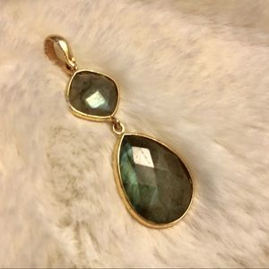Gold-plated Sterling Silver & Labradorite Pendant